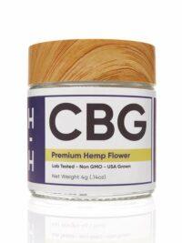 HHemp-Flower jar-the White CBG