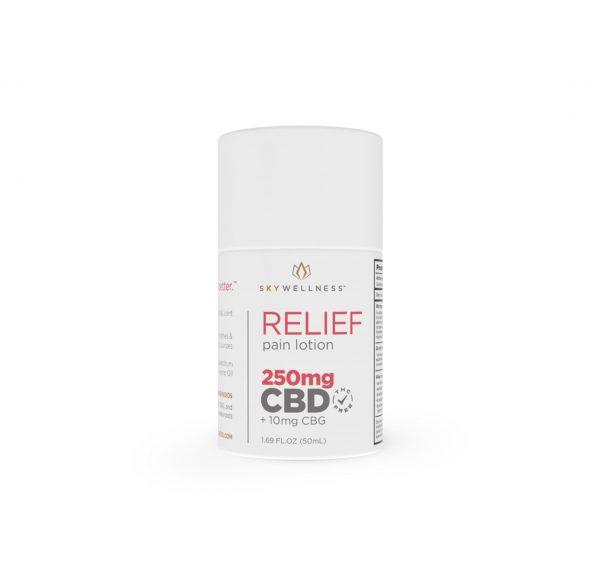 Sky Wellness_CBD Relief Pain Lotion_250mg _CBG+Eucalyptus