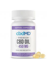 CBD Oil softgel capsules