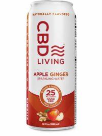 CBD Living Sparkling Water Apple Ginger
