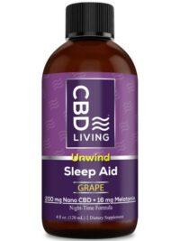 CBD Living Sleep Aid Syrup Grape