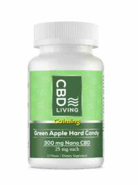 CBD Living Green Apple Hard Candy