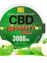 Bolt CBD - Gummy Rings – Green Apple 3000mg