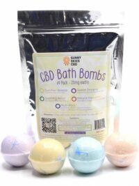 Sunny Skies CBD - CBD Bath Bomb 4 Pack