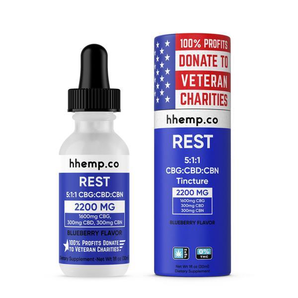 HH CBG+CBD Tincture - Rest (Blueberry Flavor) - 2200 mg