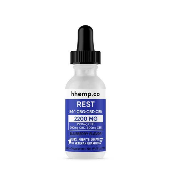 HH CBG+CBD Tincture - Rest (Blueberry Flavor) - 2200 mg_bottle
