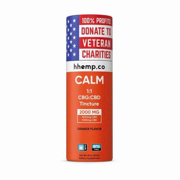 HH CBG+CBD Tincture - Calm (Orange Flavor) - 2000 mg_box