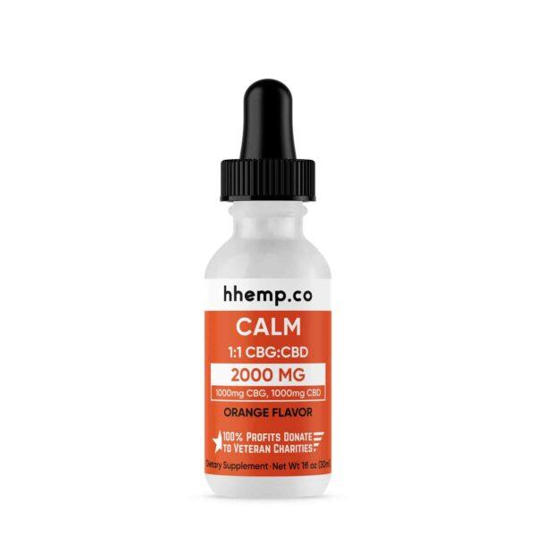 HH CBG+CBD Tincture - Calm (Orange Flavor) - 2000 mg_Bottle